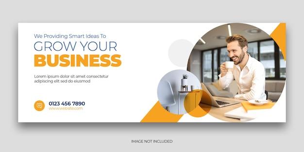 Plantilla de banner web y portada de redes sociales de marketing digital