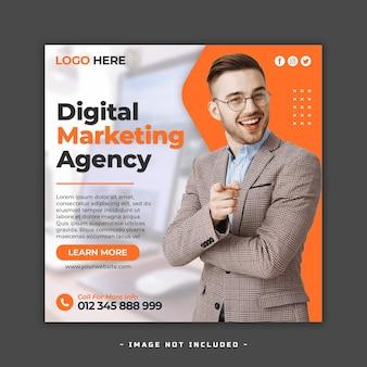 Plantilla de banner web y publicación de marketing digital y redes sociales corporativas premium psd