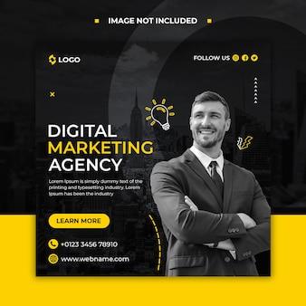 Plantilla de banner web y publicación de redes sociales de agencia de marketing digital