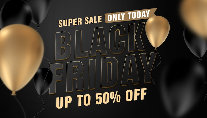 plantilla de black friday super sale only today