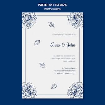 Plantilla de boda para póster