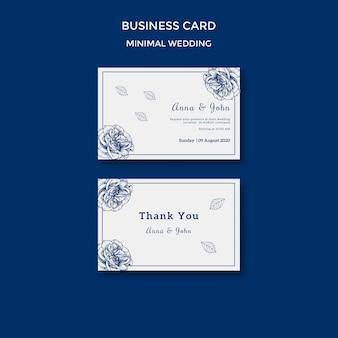 Plantilla de boda para tarjeta de visita