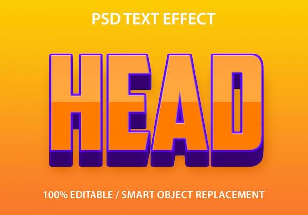 Plantilla de cabeza de efecto de texto