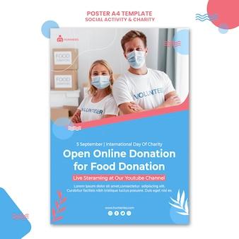 Plantilla de cartel de actividad social y caridad