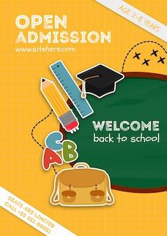 Plantilla de cartel para el anuncio de la escuela