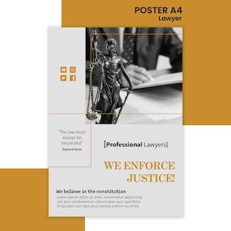 Plantilla de cartel de bufete de abogados