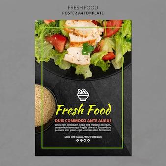 Plantilla de cartel de comida fresca