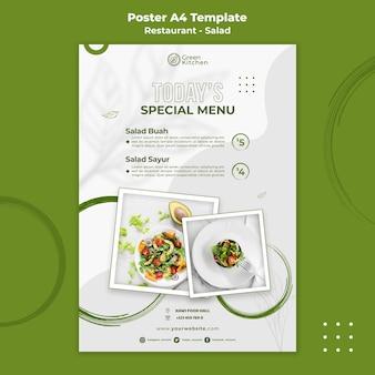 Plantilla de cartel de comida sana