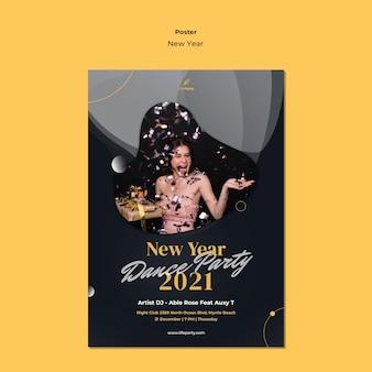 Plantilla de cartel de concepto de año nuevo