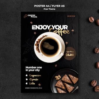 Plantilla de cartel de concepto de café