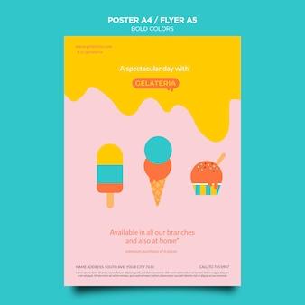 Plantilla de cartel de concepto de colores llamativos