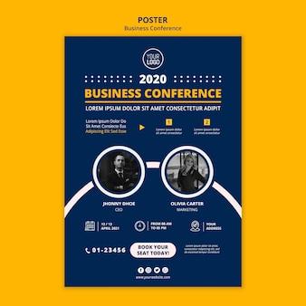 Plantilla de cartel de concepto de conferencia de negocios