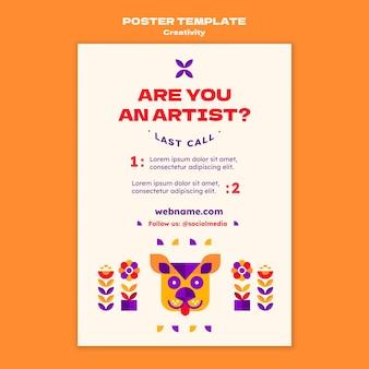 Plantilla de cartel de concepto de creatividad