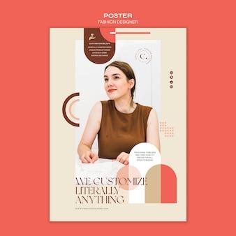 Plantilla de cartel de concepto de diseñador de moda