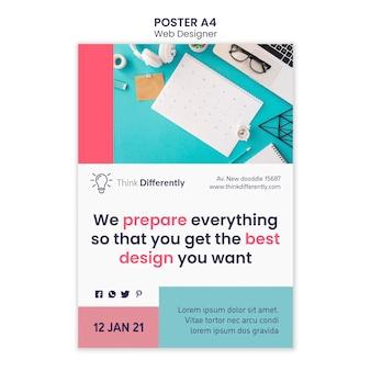 Plantilla de cartel de concepto de diseño web
