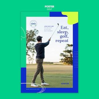 Plantilla de cartel de concepto de golf