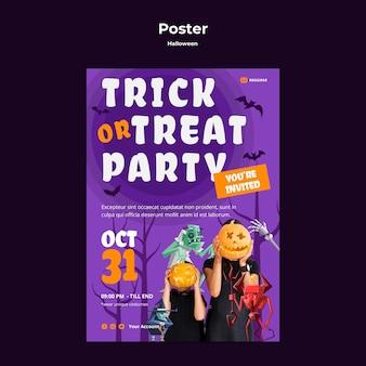 Plantilla de cartel de concepto de halloween