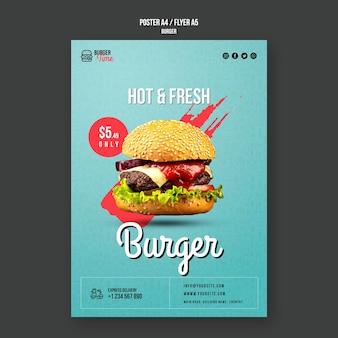 Plantilla de cartel de concepto de hamburguesa