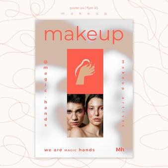 Plantilla de cartel de concepto de maquillaje