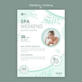 Plantilla de cartel de concepto de spa