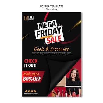 Plantilla de cartel de concepto de viernes negro