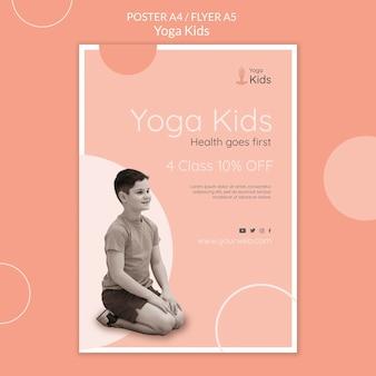 Plantilla de cartel de concepto de yoga