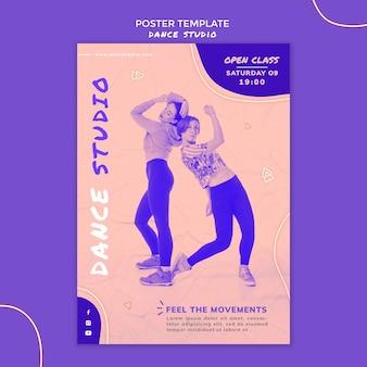 Plantilla de cartel de estudio de danza