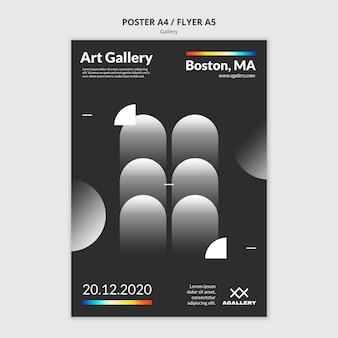 Plantilla de cartel para exposición de arte moderno.
