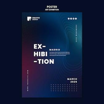 Plantilla de cartel de exposición de arte