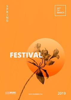 Plantilla de cartel de festival primaveral