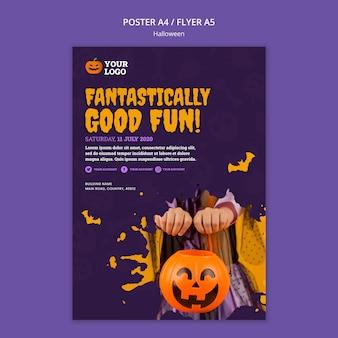 Plantilla de cartel de fiesta de halloween