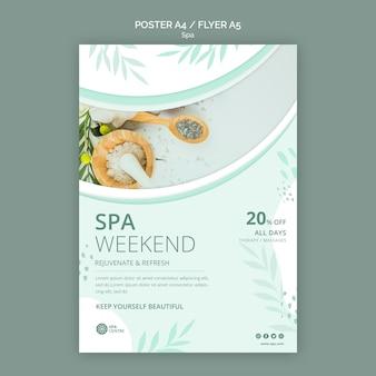 Plantilla de cartel de fin de semana de tratamiento de spa