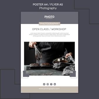 Plantilla de cartel de fotografía