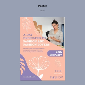 Plantilla de cartel de gran venta de moda