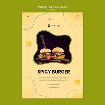 Plantilla de cartel de hamburguesa
