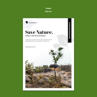 Plantilla de cartel de naturaleza
