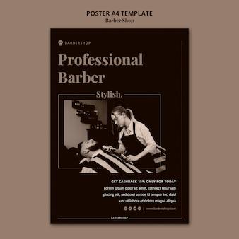 Plantilla de cartel de peluquería a4