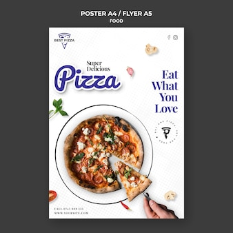 Plantilla de cartel de pizza