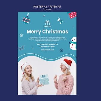 Plantilla de cartel de rebajas de navidad