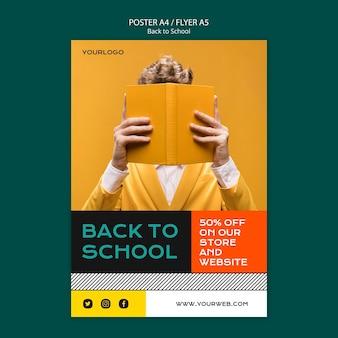 Plantilla de cartel de regreso a la escuela