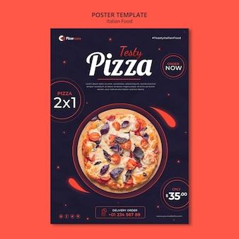 Plantilla de cartel para restaurante de comida italiana