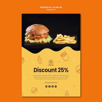 Plantilla de cartel de restaurante de hamburguesas