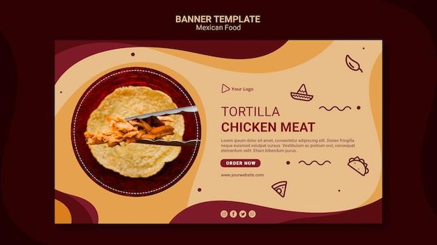 Plantilla de cartel de restaurante mexicano