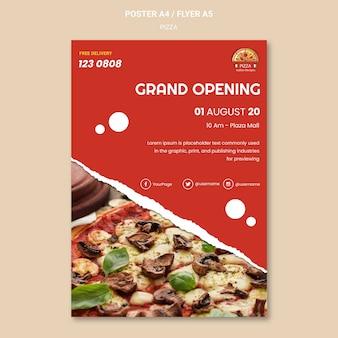 Plantilla de cartel de restaurante de pizza