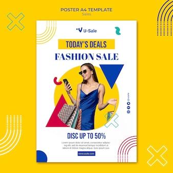 Plantilla de cartel de super venta de moda