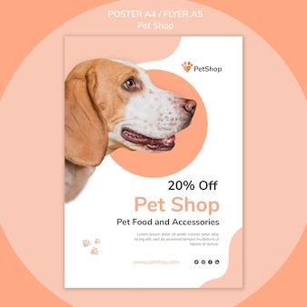 Plantilla de cartel de tienda de mascotas