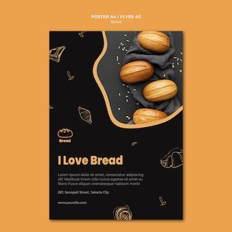 Plantilla de cartel de tienda de pan