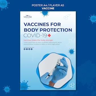 Plantilla de cartel de vacuna