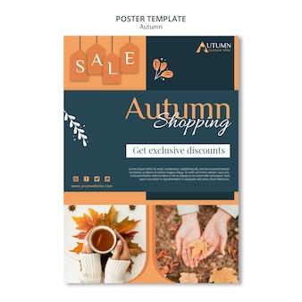 Plantilla de cartel de venta de otoño