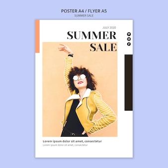 Plantilla de cartel de venta de verano